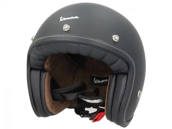 Vespa P-Xential 2.0 Open Face Helmet - black matt