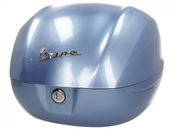 Original top box 32 l. Vespa Primavera - metallic blue 260/A