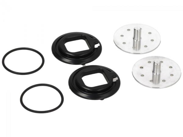 Visor mechanism, silver for Piaggio Demi Jet helmet, Carbonskin