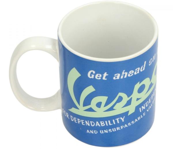 Vespa mug blue