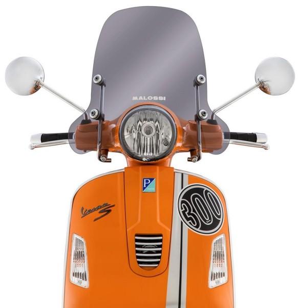 Wind shield Sport Screen for Vespa GTS/GTS Super/GT/GT L 125-300ccm, medium-sized, toned