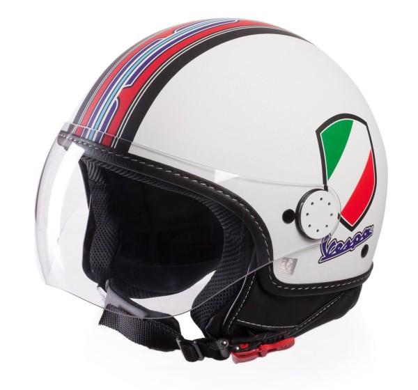 Vespa Jet Helmet V-Stripes, white