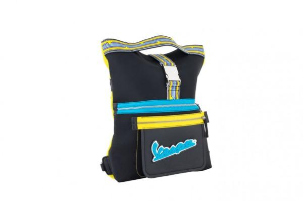 """Vespa bag with backpack function """"V-Stripes"""" - black"""