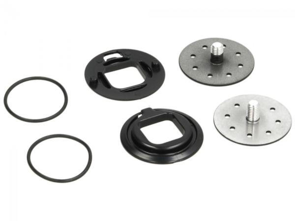 Visor mechanism, black for Piaggio Demi Jet helmet, Carbonskin