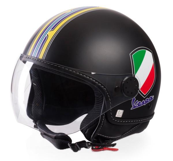 Vespa Jet Helmet V-Stripes, black