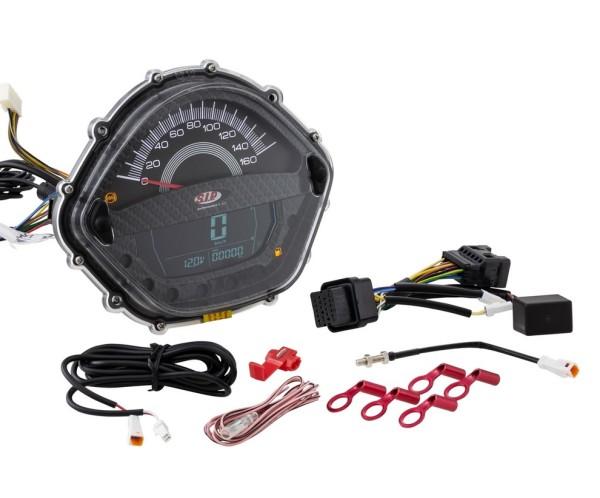 Speedometer/Rev Counter for Vespa GTS 250ccm (-'13), carbon
