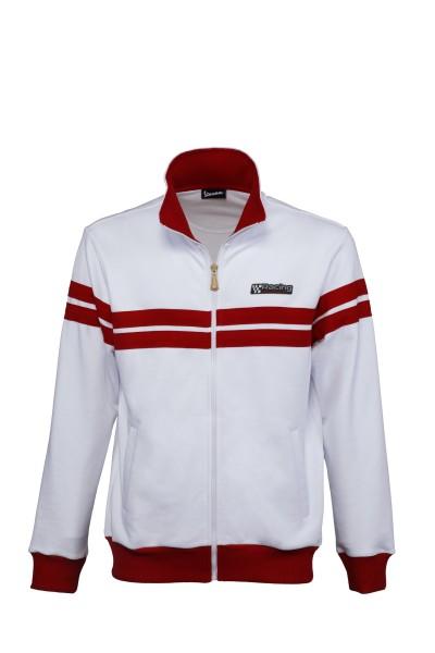 Vespa sweatshirt jacket Racing Sixties 60s white / red