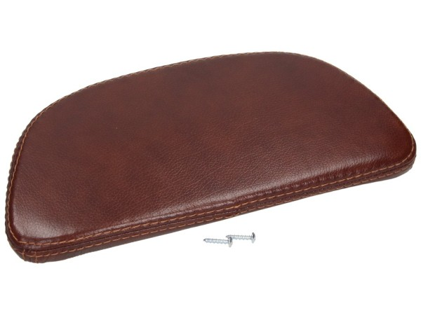 back pad, brown, leather