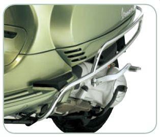 Original Crash Bar Rear Side Chrome Vespa LX / LXV