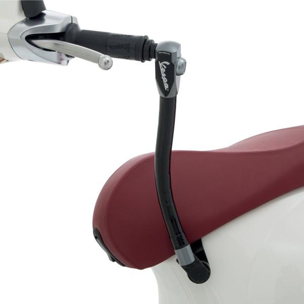 Original anti-theft device (seat - handlebar) reinforced for Vespa Primavera / Sprint / Elettrica