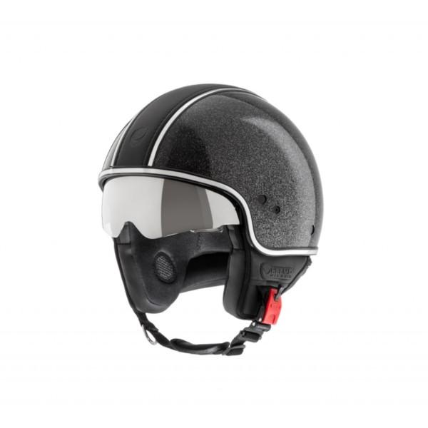 Helmo Milano Demi Jet, Puro Styles Limited, shiny black, glitter