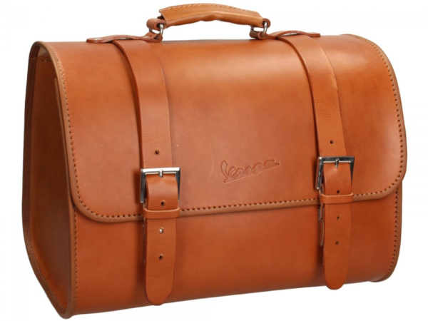 Original Vespa leather bag - brown