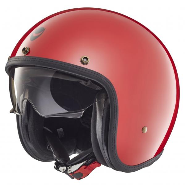 Helmo Milano open face helmet, Audace, red