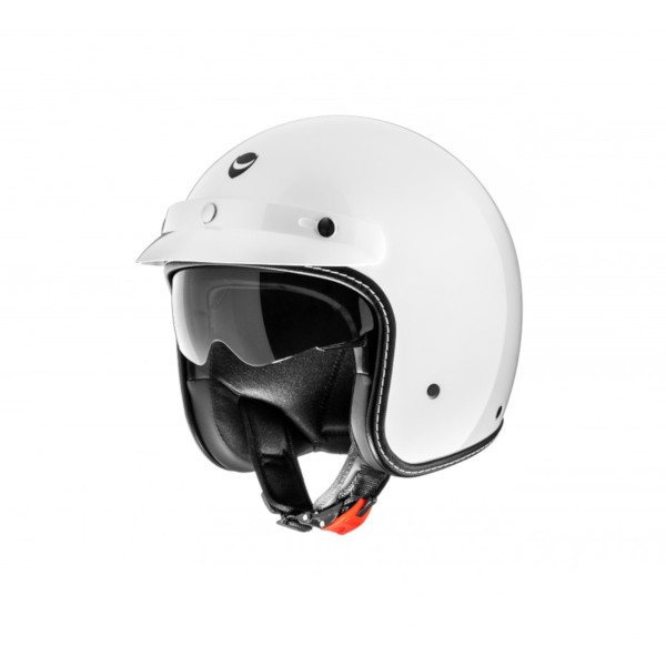 Helmo Milano open face helmet, Audace Monza, white, glossy