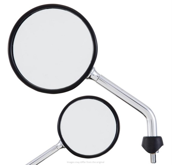 Mirror Shorty for Vespa, chrome, right and left