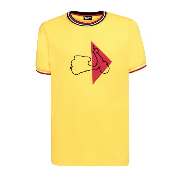 Vespa Modernist T-Shirt man yellow