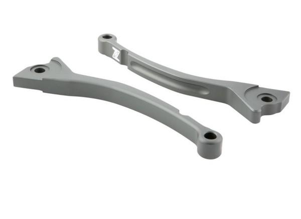 Sport Lever Set brake ZELIONI for Vespa, grey mat, left and right