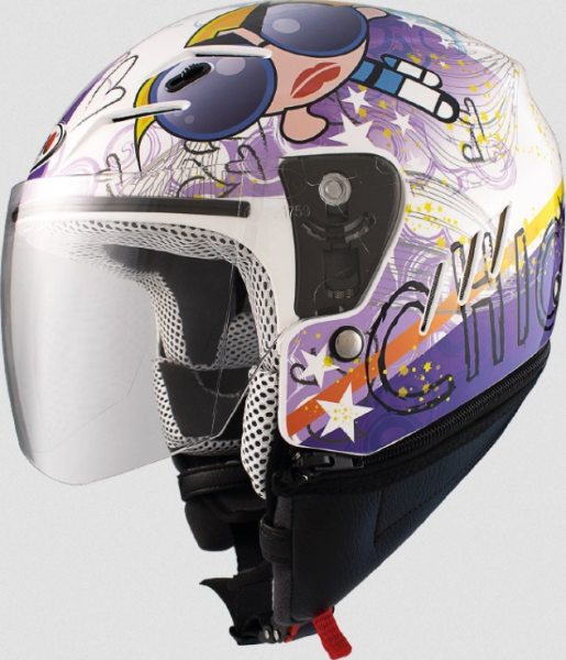Shiro children helmet, SH20, Très Chic, white/purple/blue