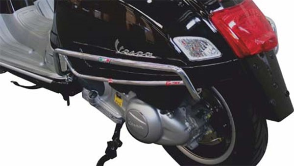 Crash bar side panel, rear for Vespa GTS/GTS Super 125-300ccm, chrome