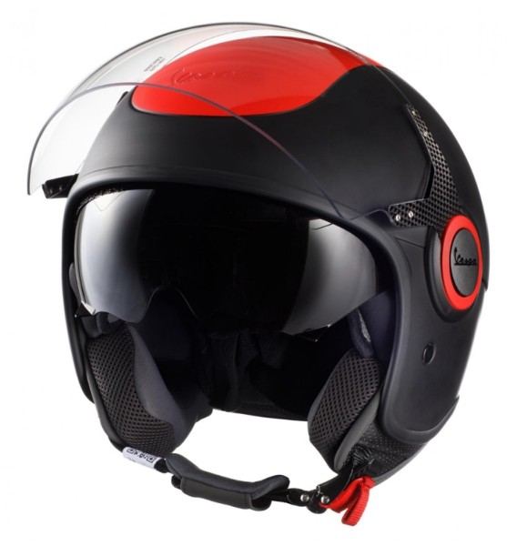 Vespa VJ Fluo Helmet red fluorescent