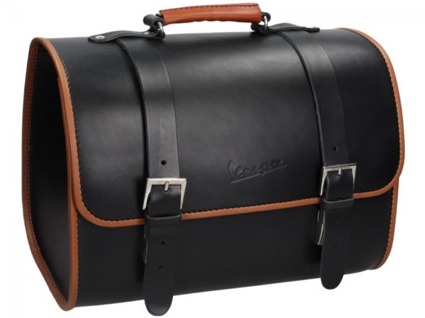 Original Vespa leather bag - black