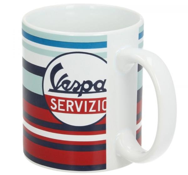 Vespa mug Servizio red blue
