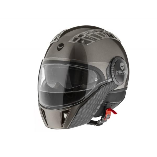 Helmo Milano Full Open Face Helmet, FuoriRotta, glossy gray
