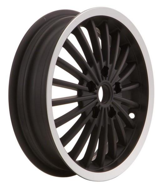 Rim front/rear for Vespa GTS/GTS Super/GTV/GT 60/GT/GT L 125-300ccm, black with polished edge