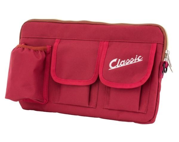 """Bag """"Classic"""" for luggage compartment / glove box Vespa - red, nylon"""